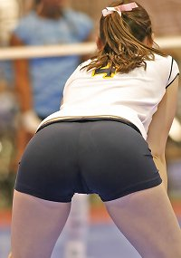 Amazing asses and cameltoes (volleyball players)