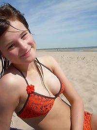 Estonian teens-02 beach bra panties party